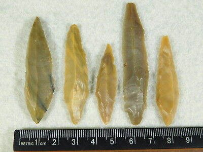 Lot of FIVE! 9,000 to 4,000 Year Old Lithic Arifacts! Bir Gandus Morocco 22.21gr