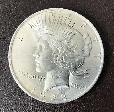 1922 Extra Fine Circulated Peace Silver Dollar