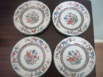 Vintage Spode Chinese Rose (4) tea plates  6.1/4  Rd No 629599