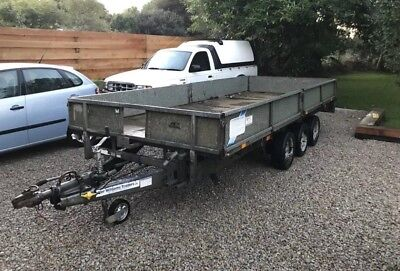 Ifor Williams Trailer lm166 3500 kg drop side plant trailer tri axle