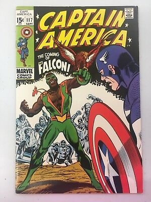 Captain America #117. 1st appearance of The Falcon / Marvel 1969 Great Colors!