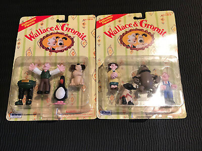 """1989 Wallace and Gromit Wrong Trousers Figures and Feathers McGraw - BBC """"New Se"""