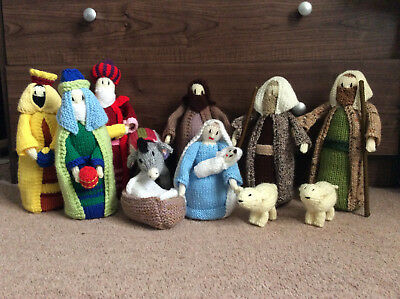Hand Knitted Christmas Nativity Set - Jean Greenhowe