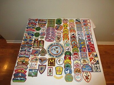VINTAGE BOY SCOUT BSA PATCHES MIXED LOT OF 117 60's - 90's 300 APOXKY AIO WWW