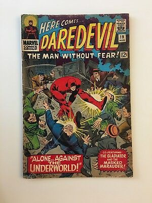Daredevil #19 The Man Without Fear Alone Against The Underworld Marvel, 1966