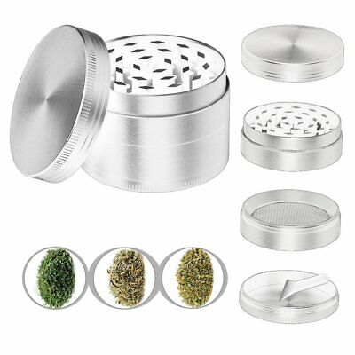 4 Pieces Tobacco Grinder Alloy Leaf Herbal Herb Spice Smoke Crusher Hand Muller