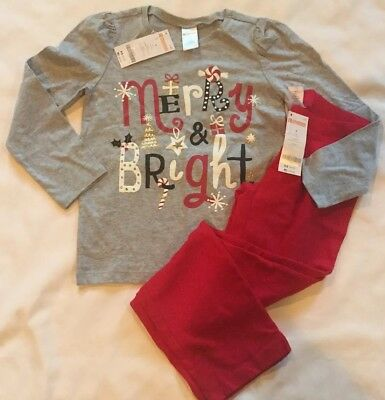 "Girls Gymboree Outfit, Size 6, (NWT), ""MERRY & BRIGHT"", Gold Glitter"