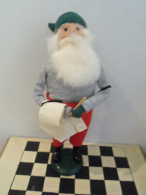 Byers Choice Caroler Christmas Santa Clause  checking his list 1985