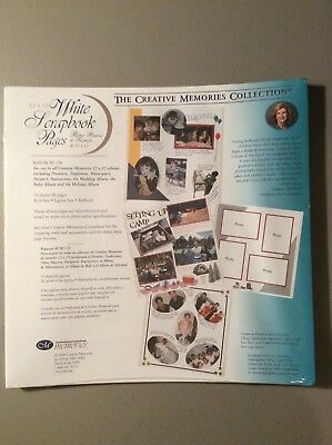 Creative Memories Pages and Protectors NIP 12x12 White 15 Sheets Old Style