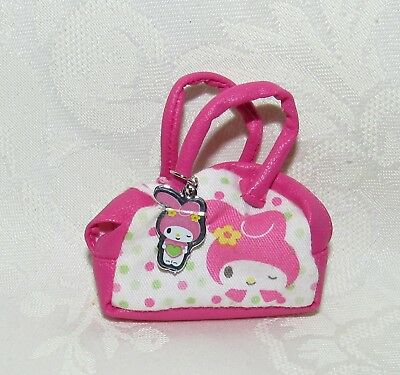 Barbie My Melody Pink White Purse Bag Fashion Accessory For Doll