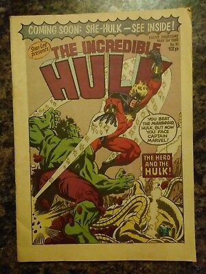 Incredible Hulk Comic, Marvel UK edition, issue 61, 1 May 1980