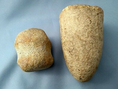 Native American Bell Pestle & Nutting Hammer Stone From Tennessee
