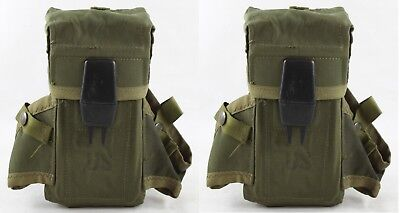TWO US Surplus Case Small Arms Ammo Pouch M16A2 Triple 30rd Magazine LC-1 Alice