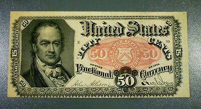 Fr. 1381 50¢ Fifth Issue AU Free Shipping