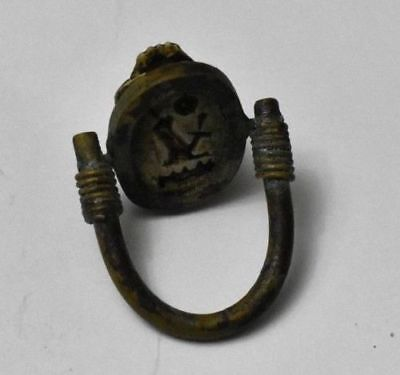 RARE Ancient Egypt Egyptian Antique Copper RING Scarab New Kingdom1549–1069BC