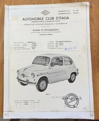 Original Artwork For Abarth Owners International #2 Page 121  Omologazione 1000
