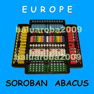 Abacus Soroban 13 Rods Column Bead Tool Japanese Arithmetic (6 Colors)