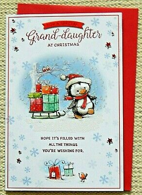 Granddaughter Birthday Card With A Full Colour Insert Loving Verse Grandaughter