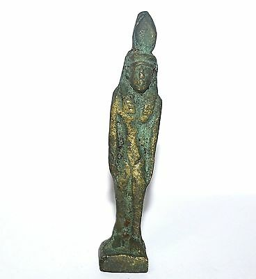 Rare Ancient Egypt Egyptian antique BRONZE/COPPER STATUE of QUEEN (600-1000 BC