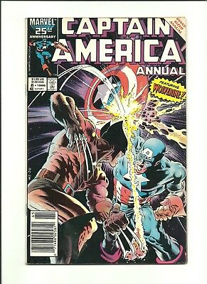 Captain America Annual #8 vs Wolverine, classic Mike Zeck cover 1986