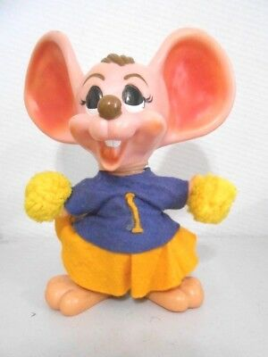 "Vintage ""Royalty Industries"" University Illinois Cheerleader Mouse Piggy Bank"