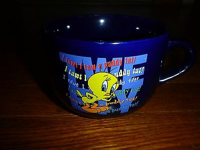 Tweety Bird 16 Oz. Royal Blue Looney Tunes Collectable Coffee Mug