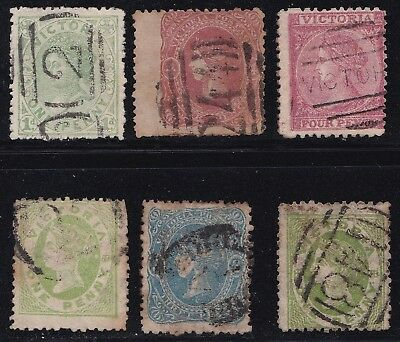 Stamps Australia - Victoria Mixed Lot x 6 - Used.