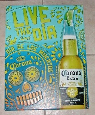 LIVE THE DIA CORONA  EXTRA CERVEZA Metal Sign