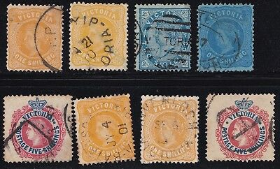 Stamps Australia - Victoria Mixed Lot x 8 - Used.