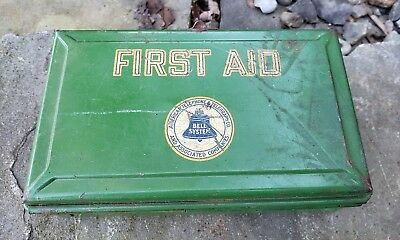 Vintage Bell Systems First Aid Kit Tin With Contents