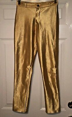 Rare Vintage Frederick's Of Hollywood Gold Spandex Disco Pants 1970s