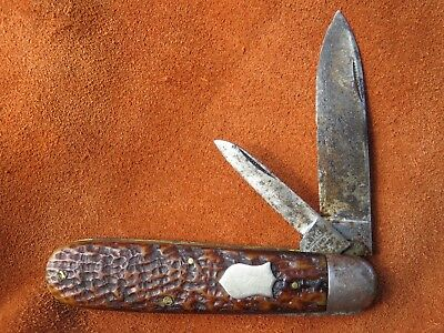 Vintage Antique Folding Pocket Knife Camillus Bone Jack EARLY 1915-16 RARE! NICE