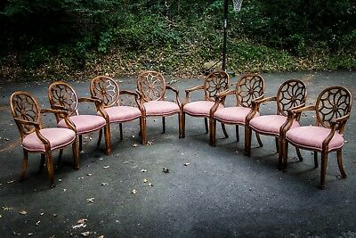 1930s Antique Cal-Mode Dining Room Chairs - Set of 8-- Free Shipping
