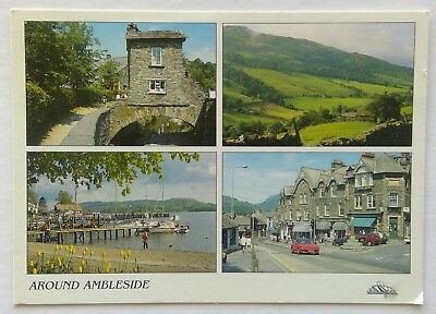 Around Ambleside Bridge House Wansfell Waterhead Centre Postcard (P325)