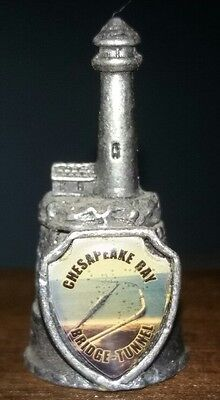Pre Owned Vintage Chesapeake Bay Lighthouse Pewter Thimble