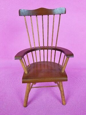 Vintage Miniature Doll Windsor Chair Doll House or Display Bear/Doll Nice 6.5in