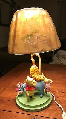 "Winnie The Pooh Nursery Lamp ""Eeyore`s Tail Fell Off"" (Rare One) Original Shade"