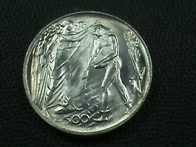 SAN  MARINO    500 Lire   1976   SILVER   ,   $ 2.99  maximum  shipping  in  USA