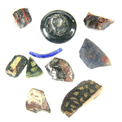 A group of 12 Egyptian glass fragments, Study Group e4794