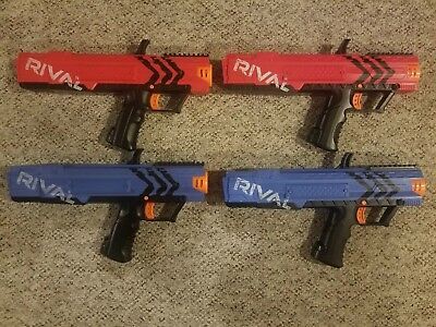 4 Nerf Rival Apollo XV-700 Blasters - Blue & Red all working