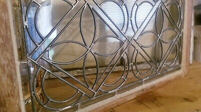 """STUNNING~ c1800's Antique LEADED GLASS Window  32.25"""" by 17.25"""""""