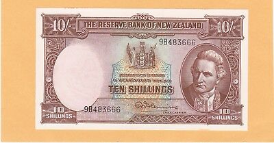 1958 10 Shillings New Zealand In Gem Uncirculated Condition