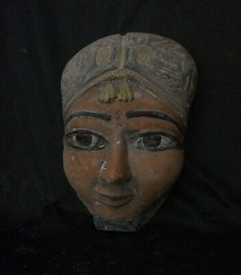 ANCIENT EGYPTIAN STATUE EGYPT Pharaoh Queen Hatshepsut Stone Mask 1507–1458 BC