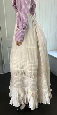 Edwardian White Cotton Petticoat Tons of Pleats and a Bustle