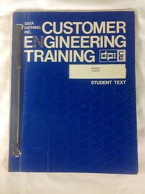 RARE NCR National Cash Register 1974 Data Pathing Inc Student Training Text Book