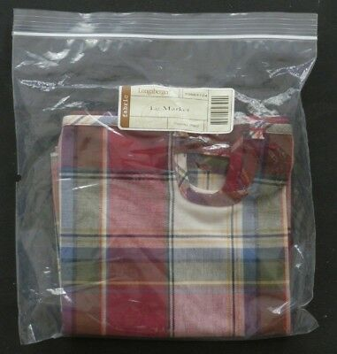 Longaberger Large Market Basket Liner Paprika Plaid - 20664124 - NEW