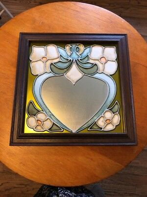 VINTAGE WALL MIRROR with STAINED GLASS EFFECT