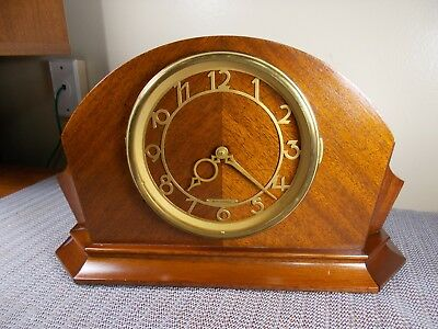 1947 Seth Thomas Art Deco Time+ Chime Electric Tambour Clock, Excellent