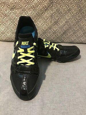 Black Nike Zoom Rival S Unisex Track and Field Shoes with Spikes M 9 W 10.5