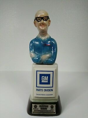 """""""Mr. Goodwrench/GM Parts Division"""" Jim Beam Decanter by Regal China 1978"""